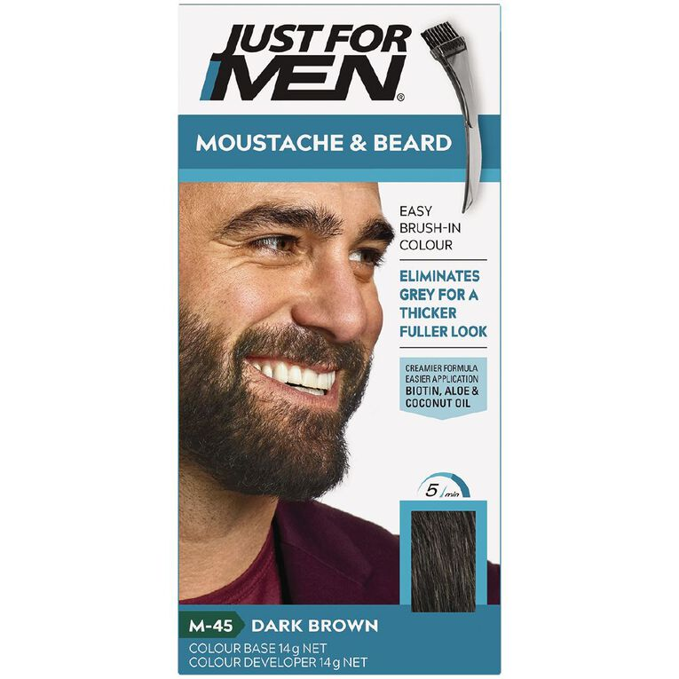 Just For Men Moustache and Beard Dark Brown, , hi-res