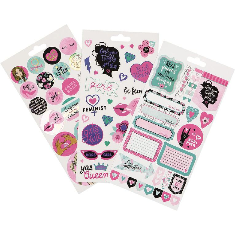 Uniti Sticker Book Glam 16 Sheets, , hi-res