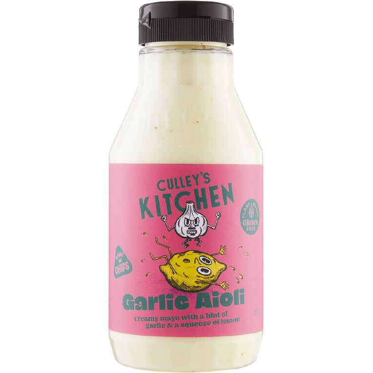 Culleys Kitchen Garlic Aioli 350ml, , hi-res