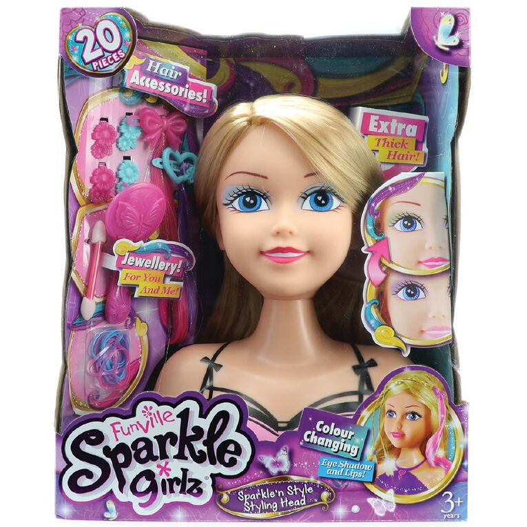 Sparkle Girlz Styling Head Colour Changing, , hi-res