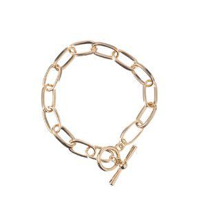 Chain Ring Gold Bracelet