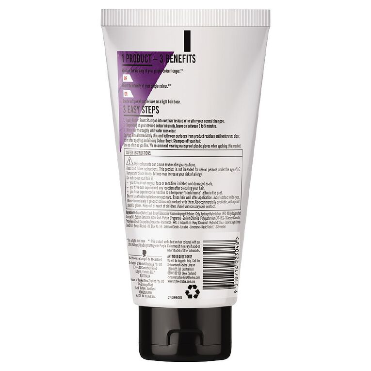 Schwarzkopf Live Colour Colour Boost Shampoo Purple 150ml, , hi-res
