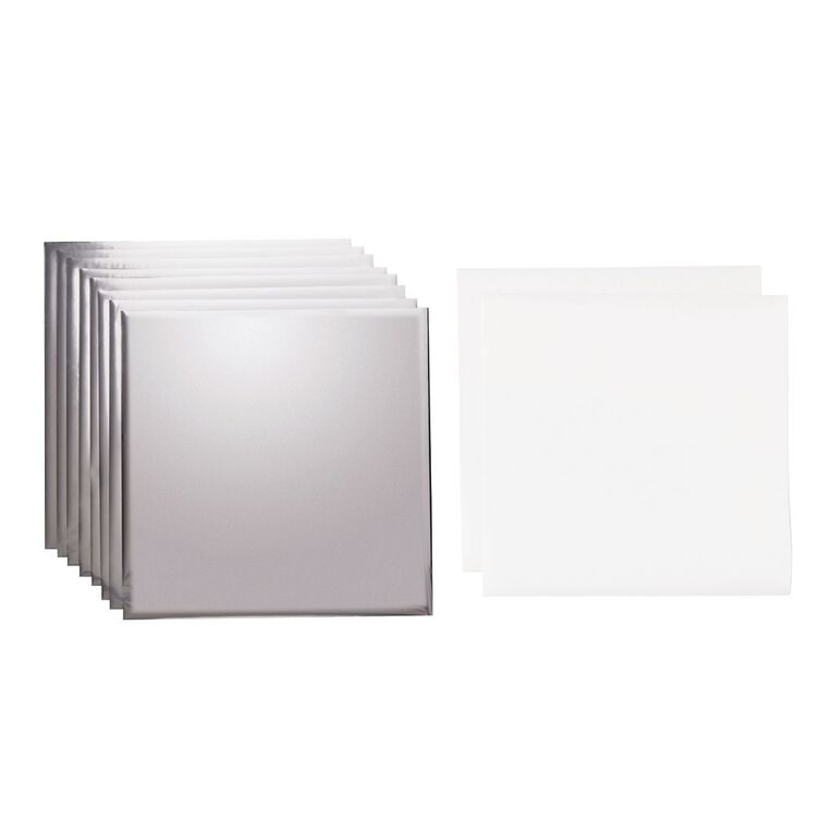 Cricut Transfer Foil 12 Inch x 12 Inch Silver 8 Pack, , hi-res image number null