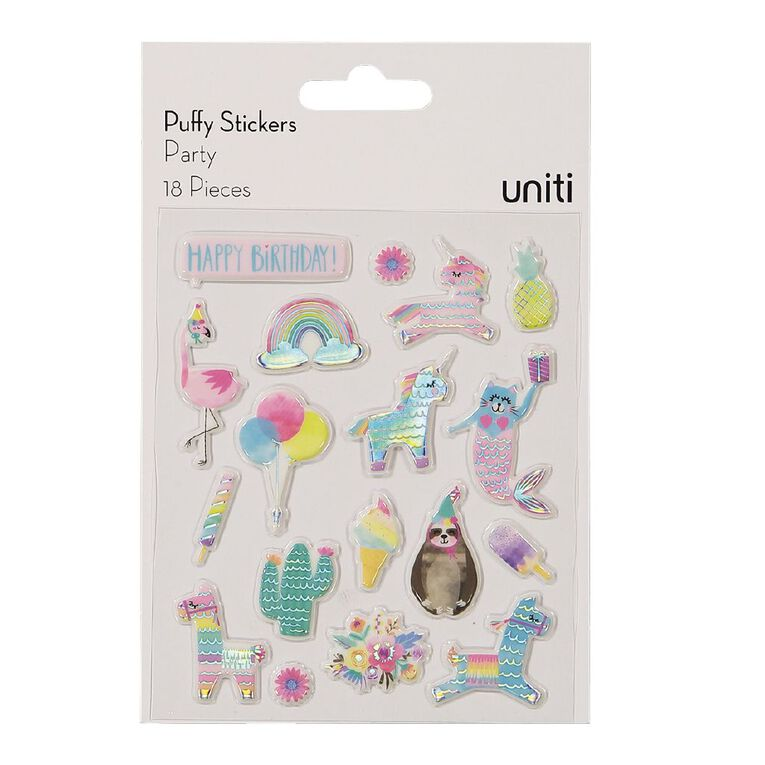 Uniti Puffy Stickers Party, , hi-res
