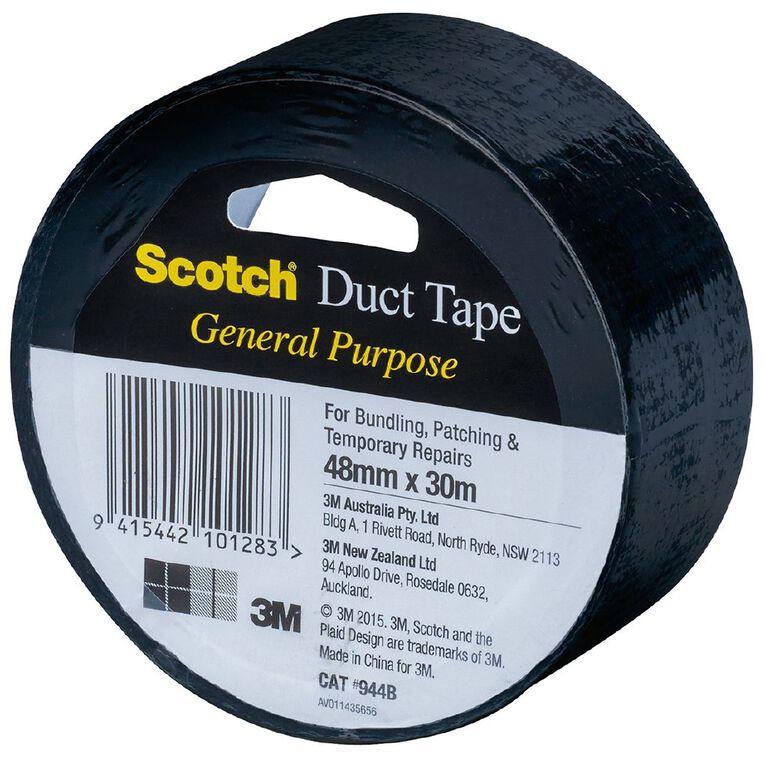 Scotch General Purpose Duct Tape 48mm x 30m Black, , hi-res