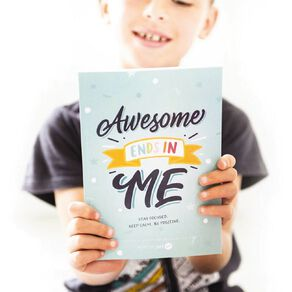 Resilient ME Gratitude Journal for Kids - Awesome ends in ME