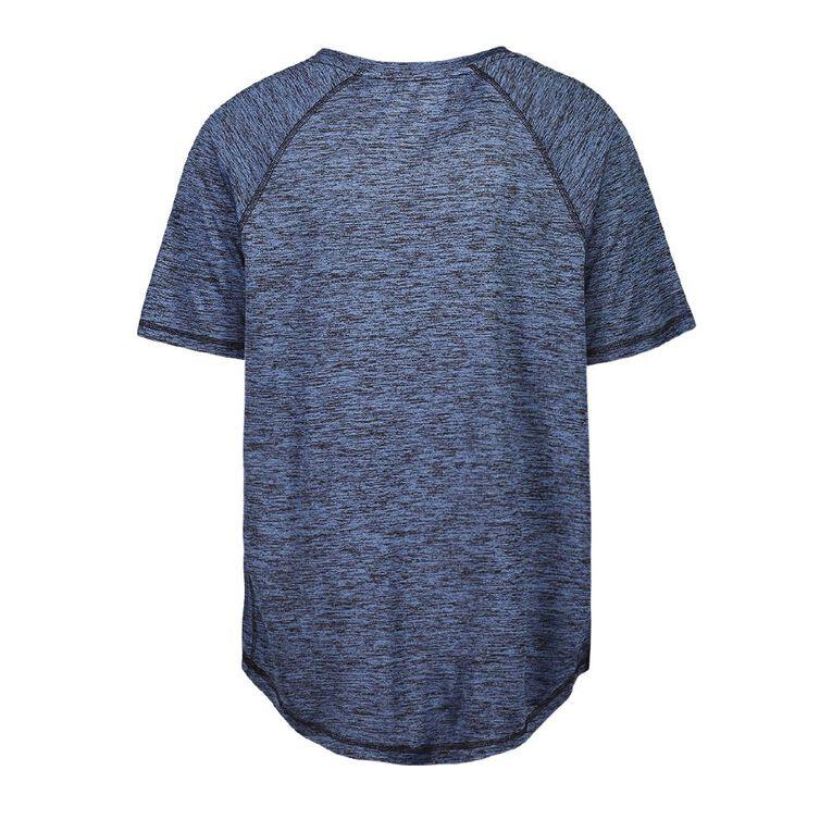 Active Intent Men's Scoop Hem Short Sleeve Tee, Blue Mid, hi-res
