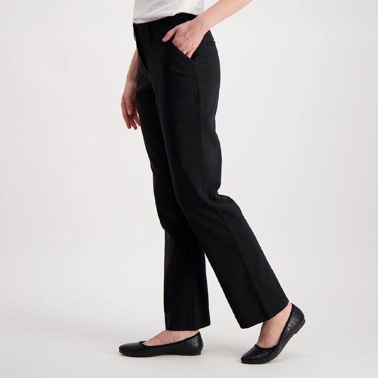 H&H Women's Bootleg Work Pants, Black, hi-res