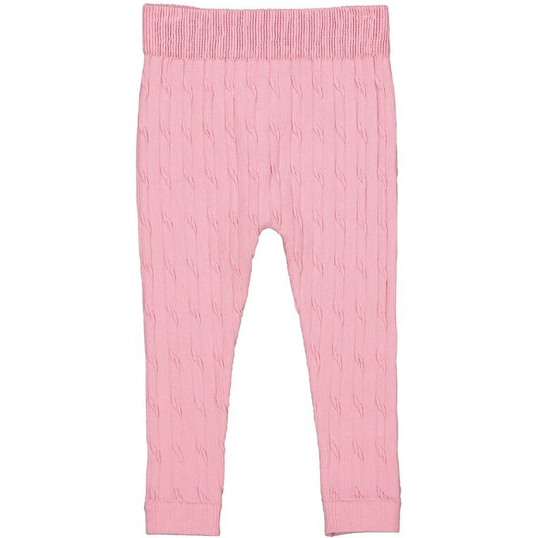 Young Original Toddler Cable Knit Leggings, Pink Light, hi-res image number null