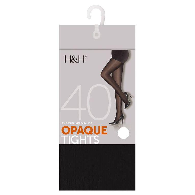 H&H Women's 40 Denier Tights 1 Pair, Black, hi-res