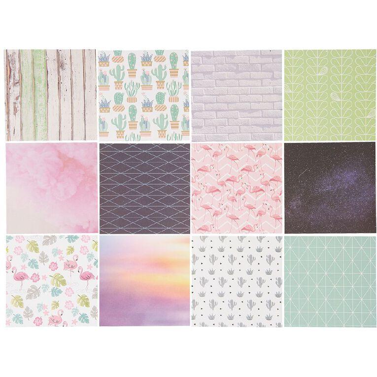Uniti Designer Paper 6x6 24 Sheets Flamingo, , hi-res