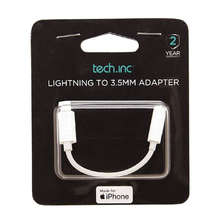 Tech.Inc Lightning to 3.5mm Adapter, , hi-res