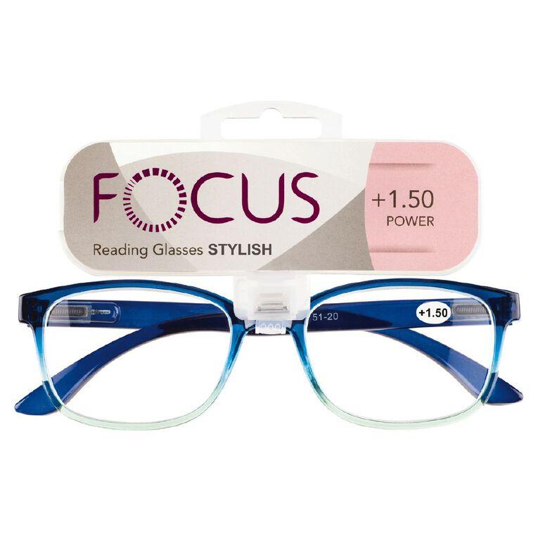 Focus Reading Glasses Stylish Power 1.50, , hi-res