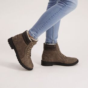 H&H Women's Combat Cushion Collar Boots