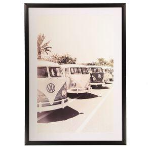 Living & Co Vintage Campervans Framed Print 50 x 70 x 2.3cm
