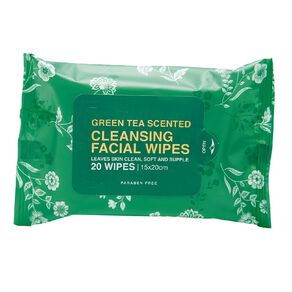 Cleansing Green Tea Face Wipes Assorted 20 Pack