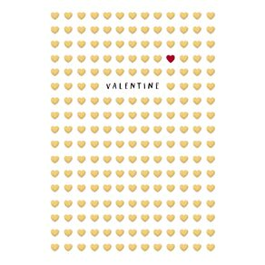 John Sands Valentine's Day Cards Gold Embossed Hearts