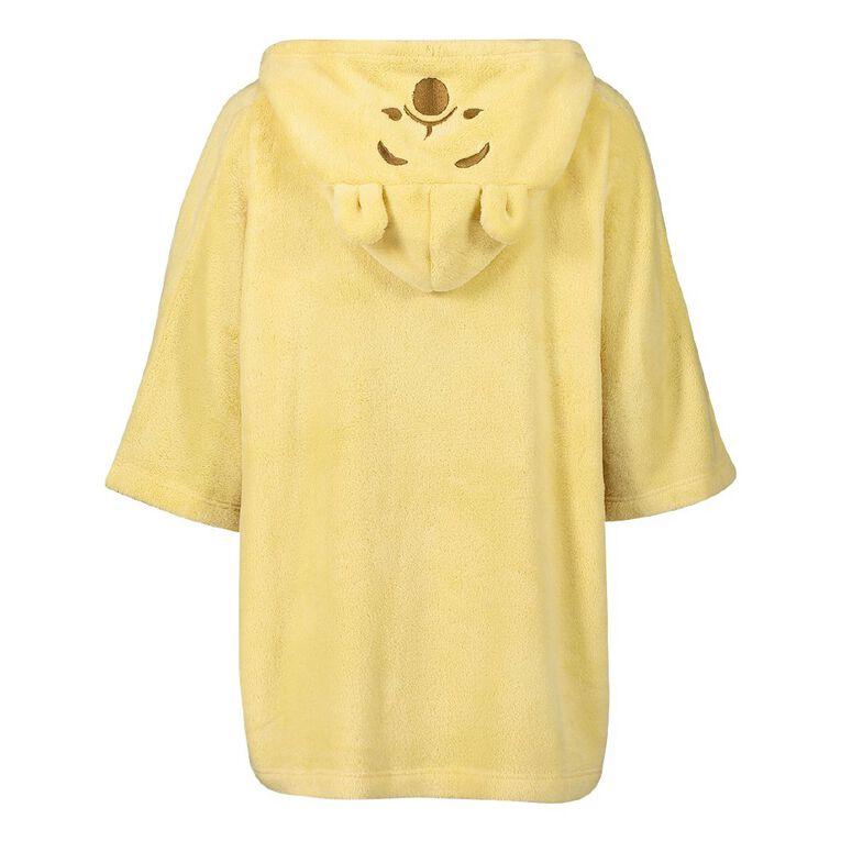 Disney Women's Winnie The Pooh Poncho, Yellow, hi-res