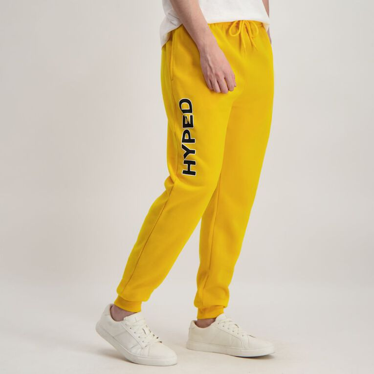 Garage Men's Fresh Trackpants, Yellow, hi-res image number null