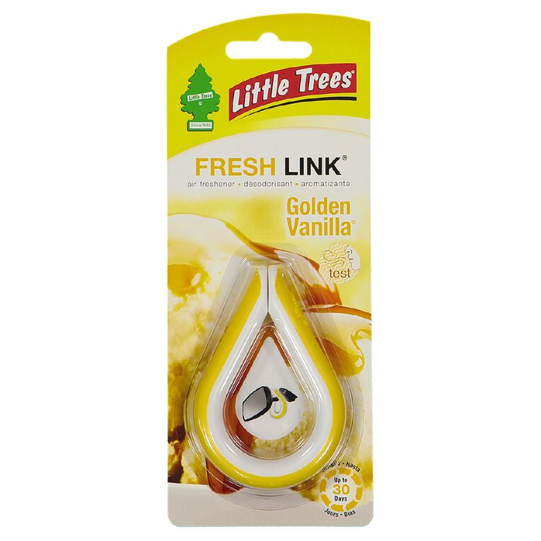Little Trees Fresh Link Auto Air Freshener Golden Vanilla, , hi-res