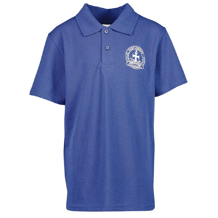 Schooltex St Joseph's Whakatane Short Sleeve Polo with Embroidery, Royal, hi-res