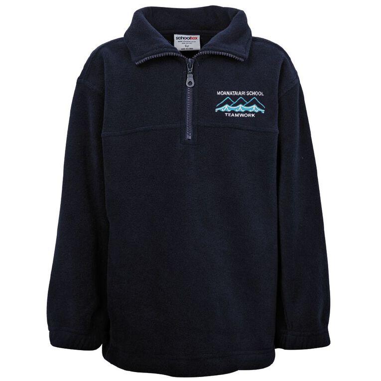 Schooltex Moanataiari Polar Fleece Top with Embroidery, Navy, hi-res