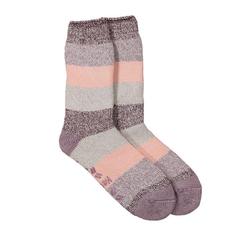 Underworks Women's Heatbods Socks 1 Pair, Pink Light, hi-res
