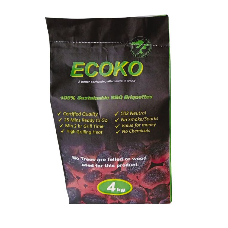 Ecoko Coconut Charcoal 4kg, , hi-res