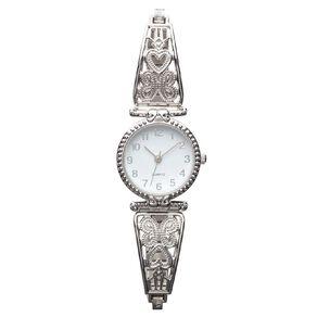 Eternity Women Analogue Watch Baroque Silver