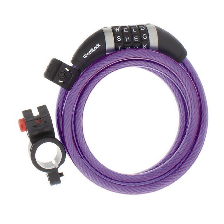 Wordlock Bike Cable Lock 5ft/10mm/150cm Assorted, , hi-res