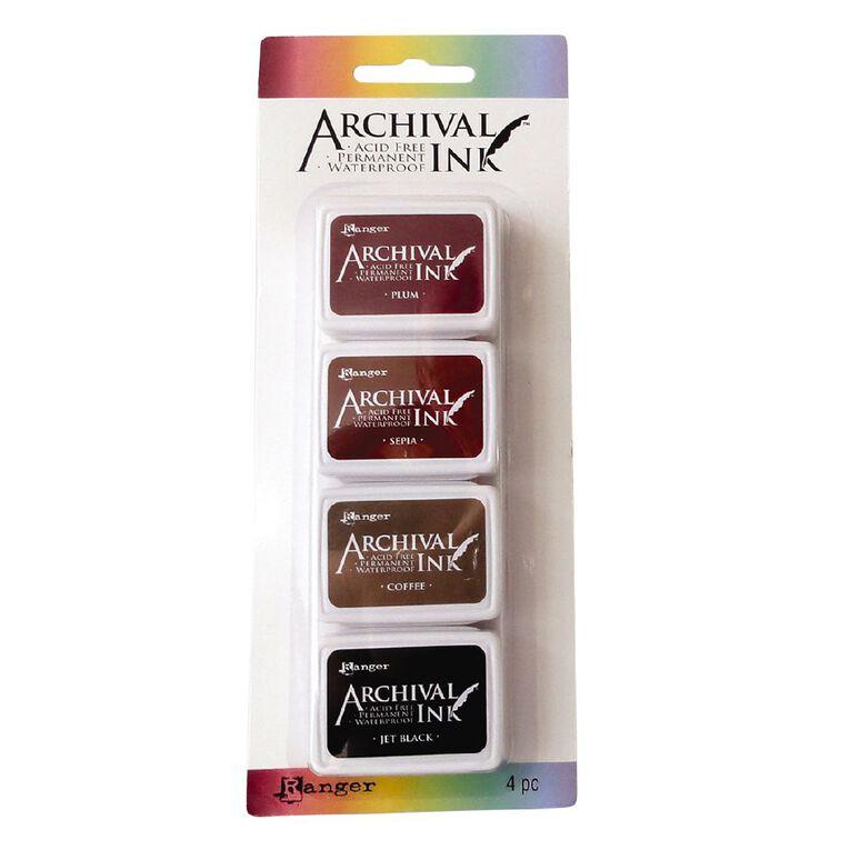 Ranger Archival Mini Ink Pads 4 Pack Neutrals, , hi-res