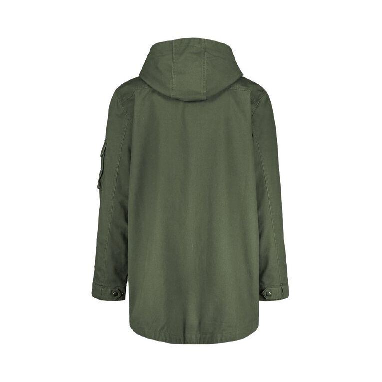 H&H Men's Hooded Utliity Pocket Jacket, Khaki, hi-res