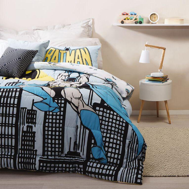 Batman Comforter Set City Blue/Grey King Single, Blue/Grey, hi-res