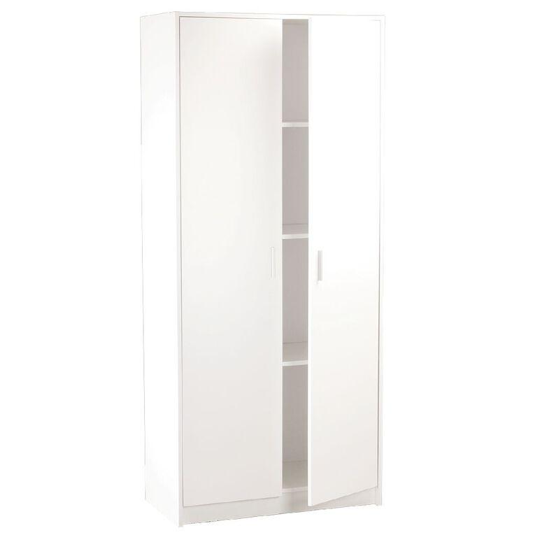 Living & Co Pantry Cabinet 800W 2 Door 4 Shelves, , hi-res
