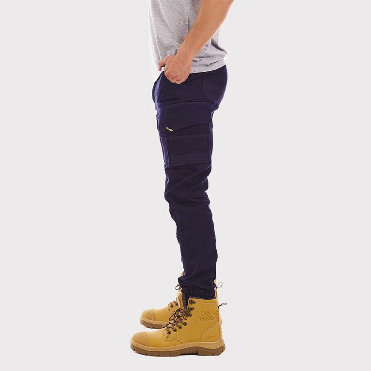 Tradie Cuffed Skinny Cargo Pants, Navy, hi-res image number null