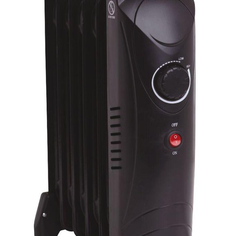 Living & Co Mini Oil Heater 6 Fin 800W, , hi-res