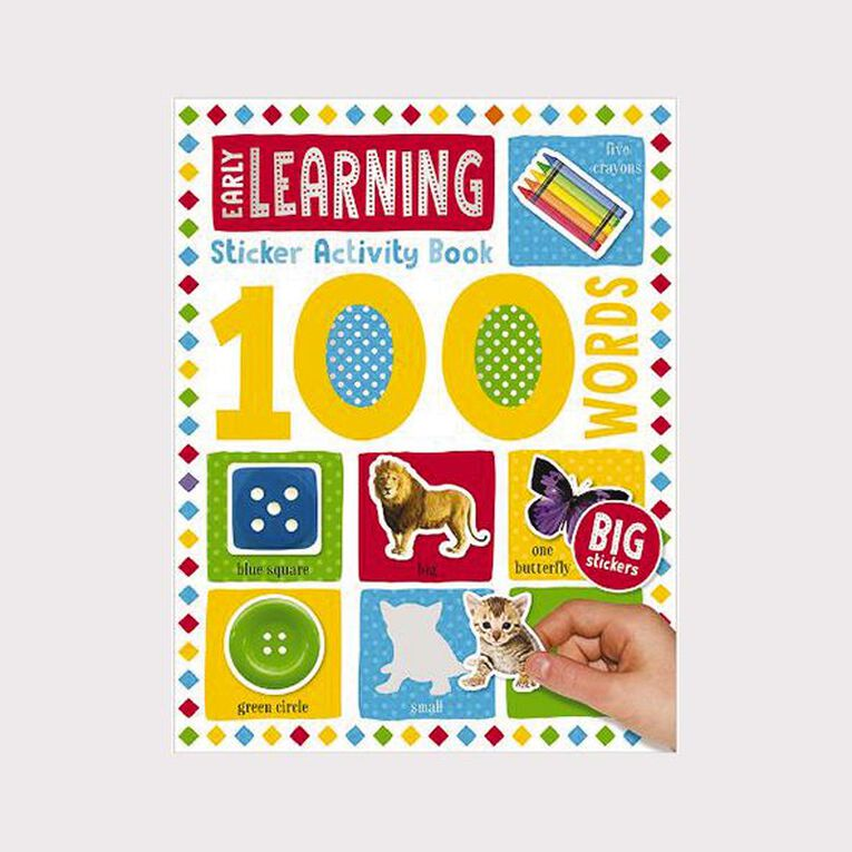 100 Word Early Learning Sticker Book, , hi-res