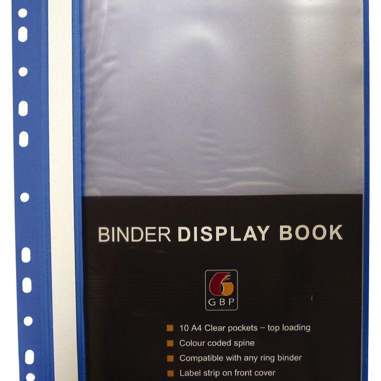 Office Supply Co Binder Display Book 20 Pocket Blue A4, , hi-res