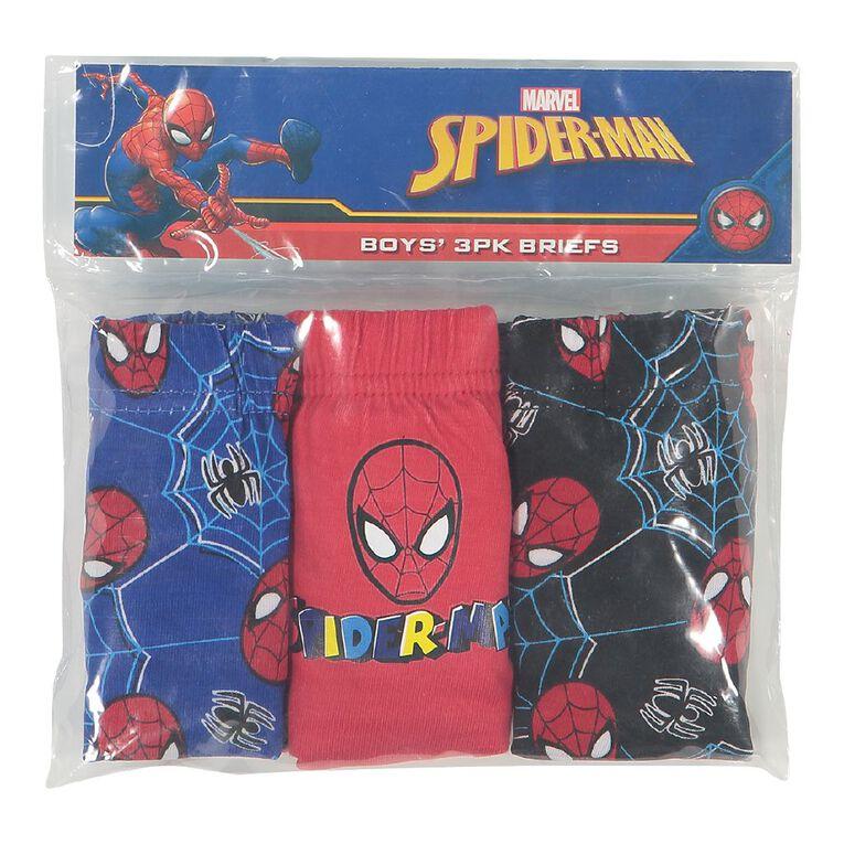 Spider-Man Boys' Briefs 3 Pack, Red, hi-res