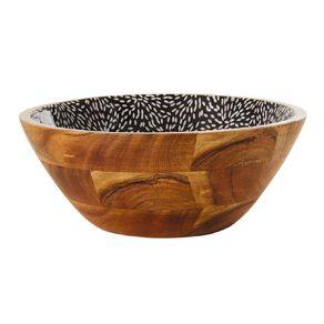 Living & Co Tokyo Wood And Enamel Serving Bowl