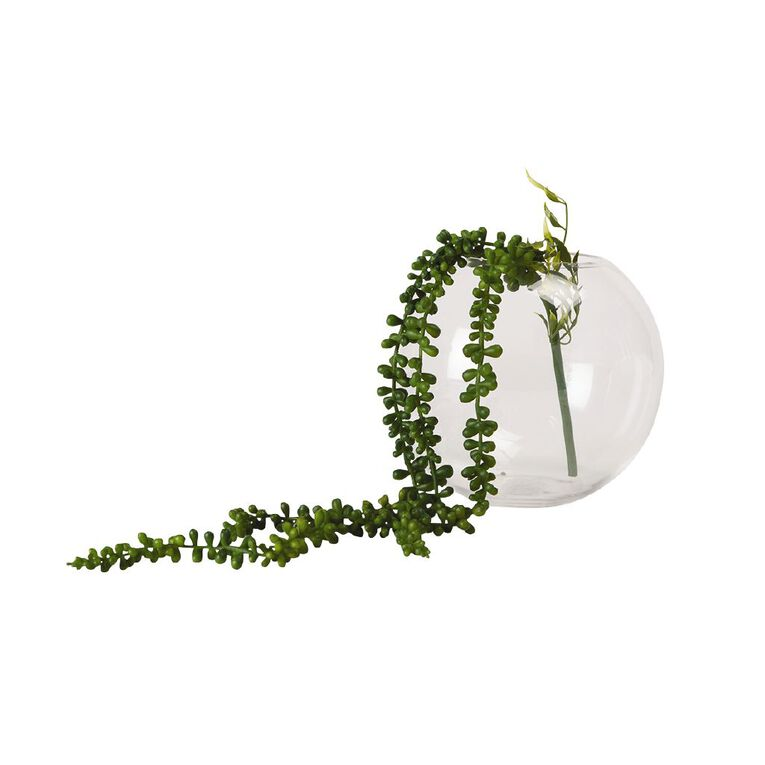 Living & Co Artificial Hanging Beads Green 73cm, , hi-res