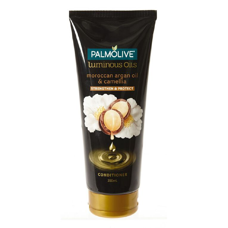 Palmolive Luminous Oils Moroccan Argan Oil & Camellia Conditioner 350ml, , hi-res