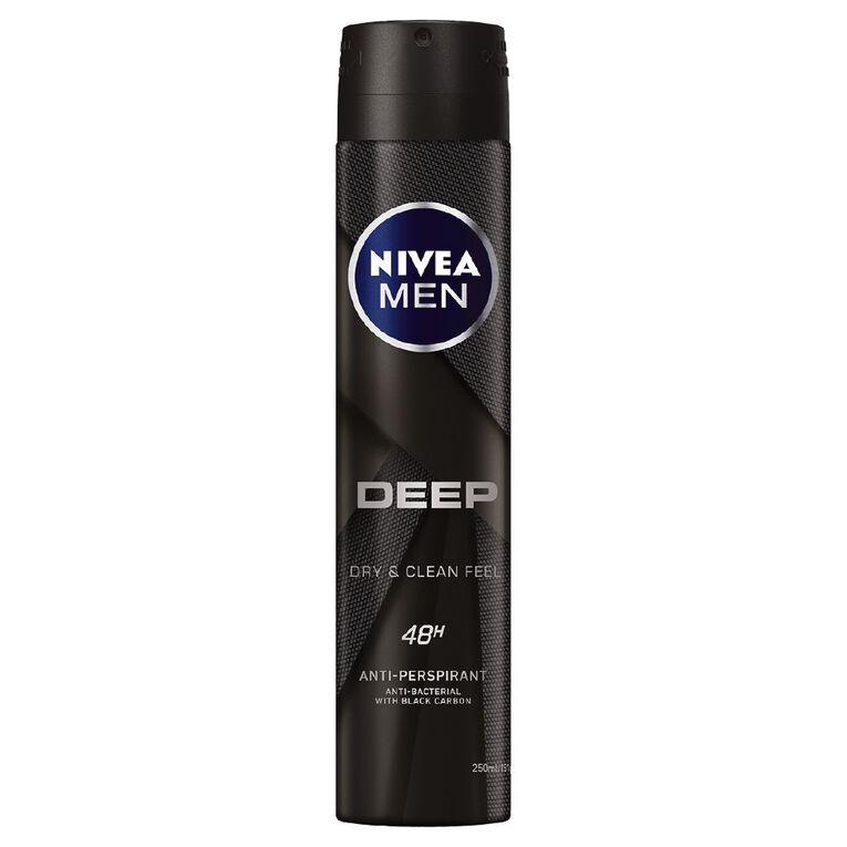 Nivea Men Antiperspirant Deodorant Deep 250ml, , hi-res