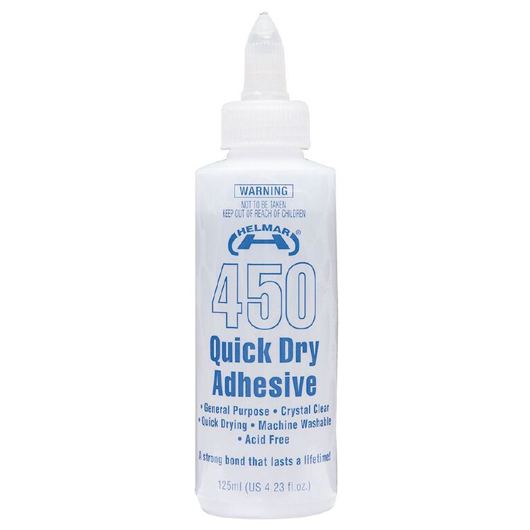 Helmar 450 Quick Dry Adhesive 125ml Clear, , hi-res
