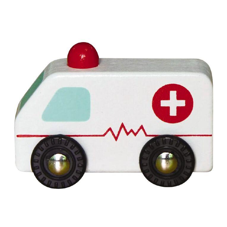 Play Studio Mini Wooden Vehicle Ambulance, , hi-res