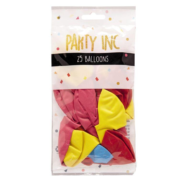Party Inc Balloons Decorator Colours 25cm 25 Pack, , hi-res
