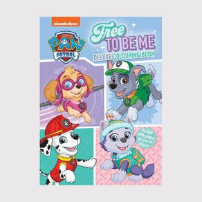 Nickelodeon Paw Patrol Pink Deluxe Colouring Book