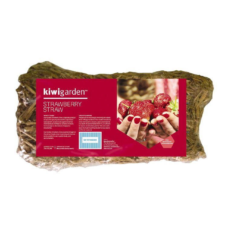 Kiwi Garden Strawberry Straw Compressed Bale 5L, , hi-res
