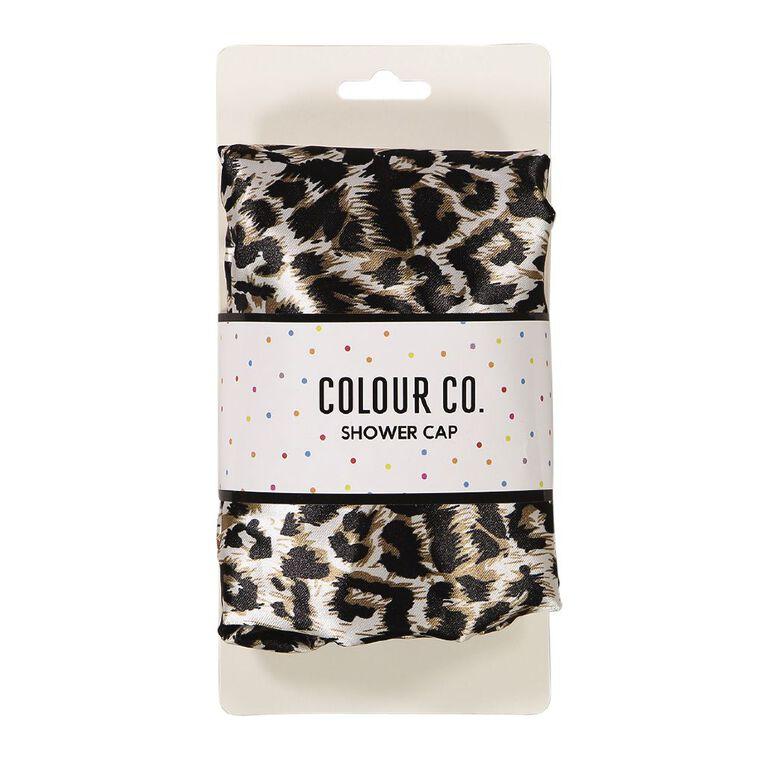 Colour Co. Shower Cap Pug or Leopard Print Design, , hi-res