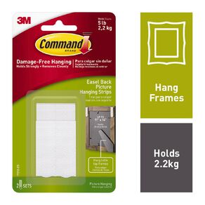 Command Easel Backed Picture Hanging Strips 17212-ES